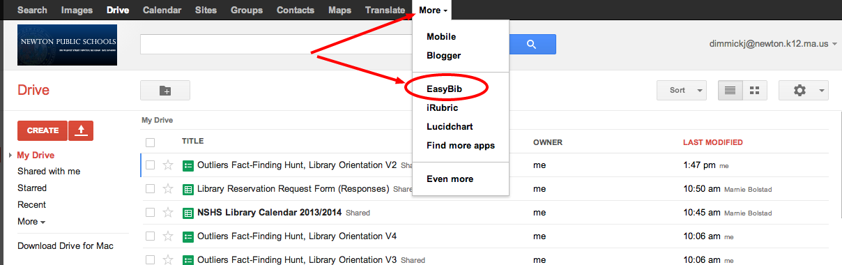 GDrive EasyBib Access
