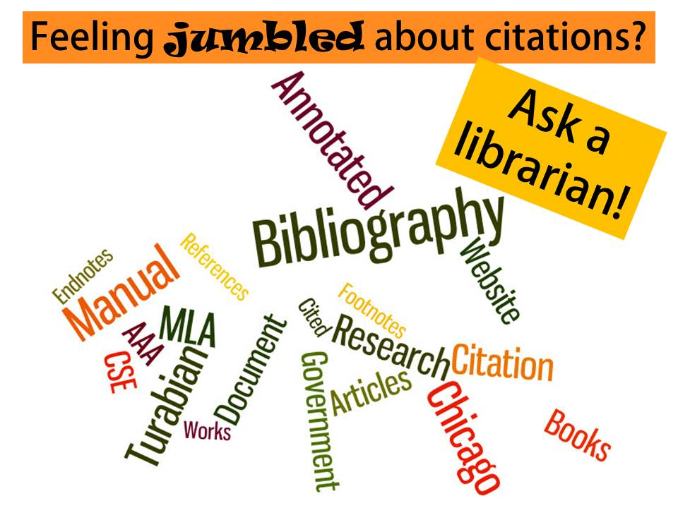 Feeling jumbled about citations? Ask a librarian
