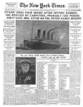 Image of an old issue of the New York Times
