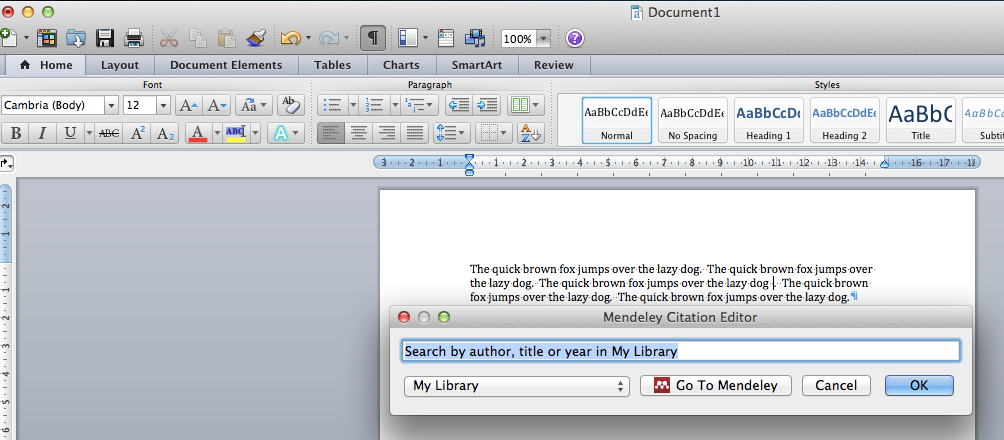 Word Insert Citation mac