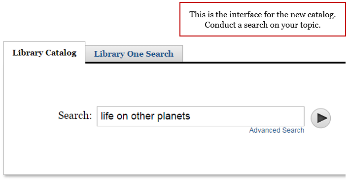 Screenshot of Library Catalog Interface