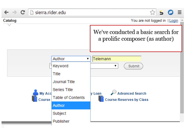 We've conducted a basic search for a prolific composer (as author)