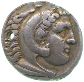 Coin depicting Alexander the Great, copyright Fitzwilliam Museum, Cambridge
