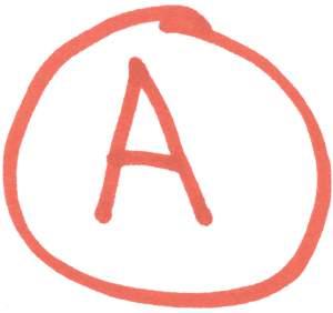 Circled A