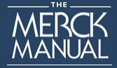 Merck Manual Logo: White letters on blue background