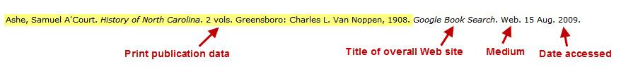 Ashe, Samuel A'Court. History of North Carolina. 2 vols. Greensboro: Charles L. Van Noppen, 1908. Google Book Search. Web. 15 Aug. 2009.