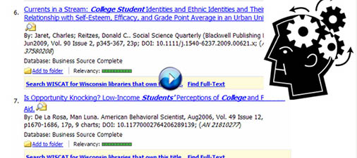 Image: Screenshot of search results from tutorial (linked)