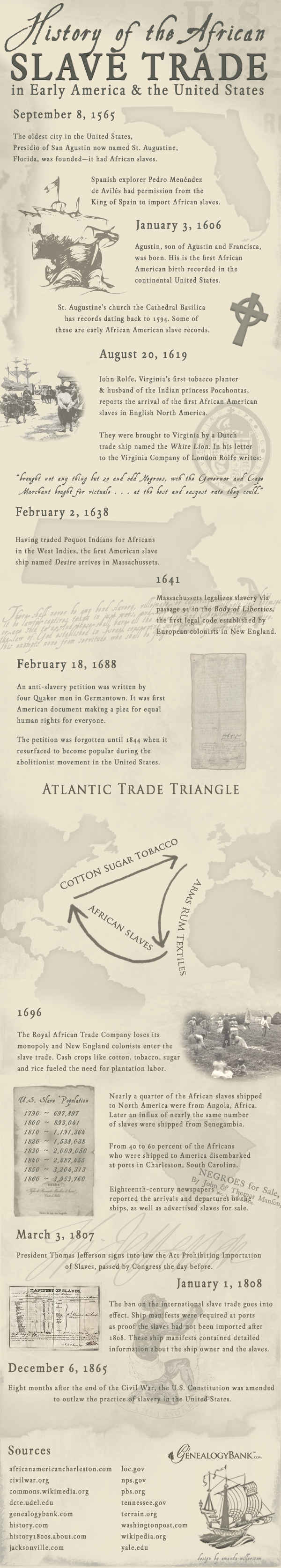 Slave Trade Infographic