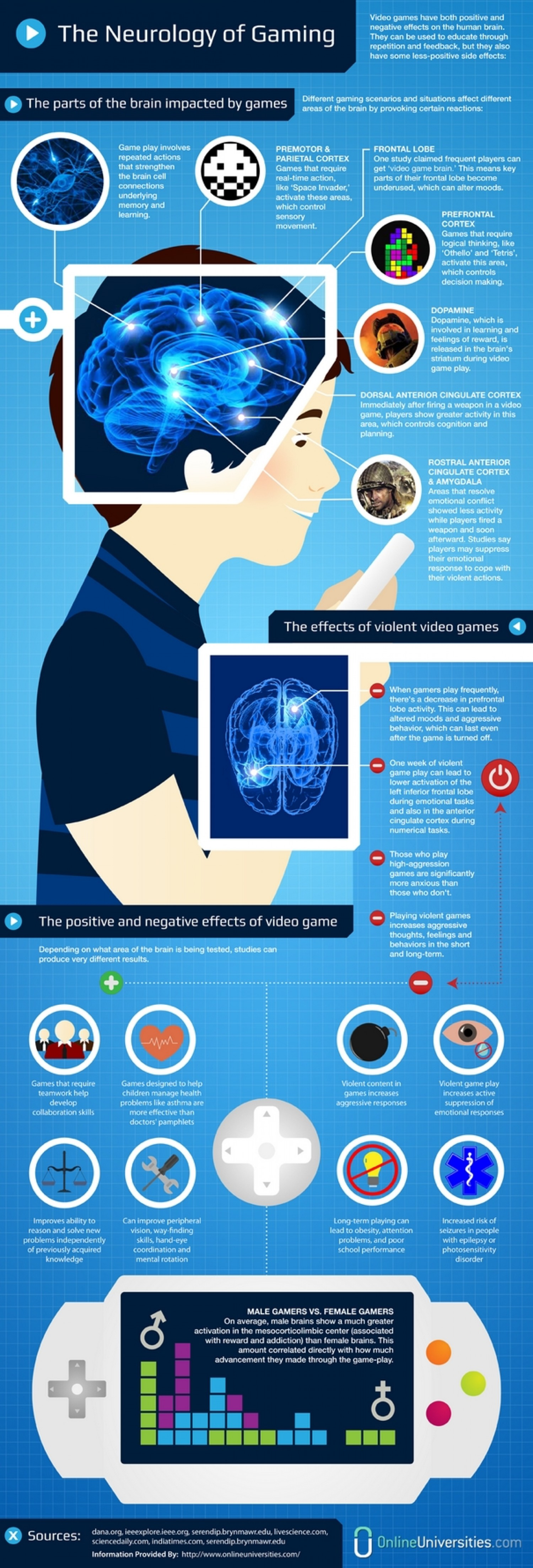 Neurology of Gaming Infographic