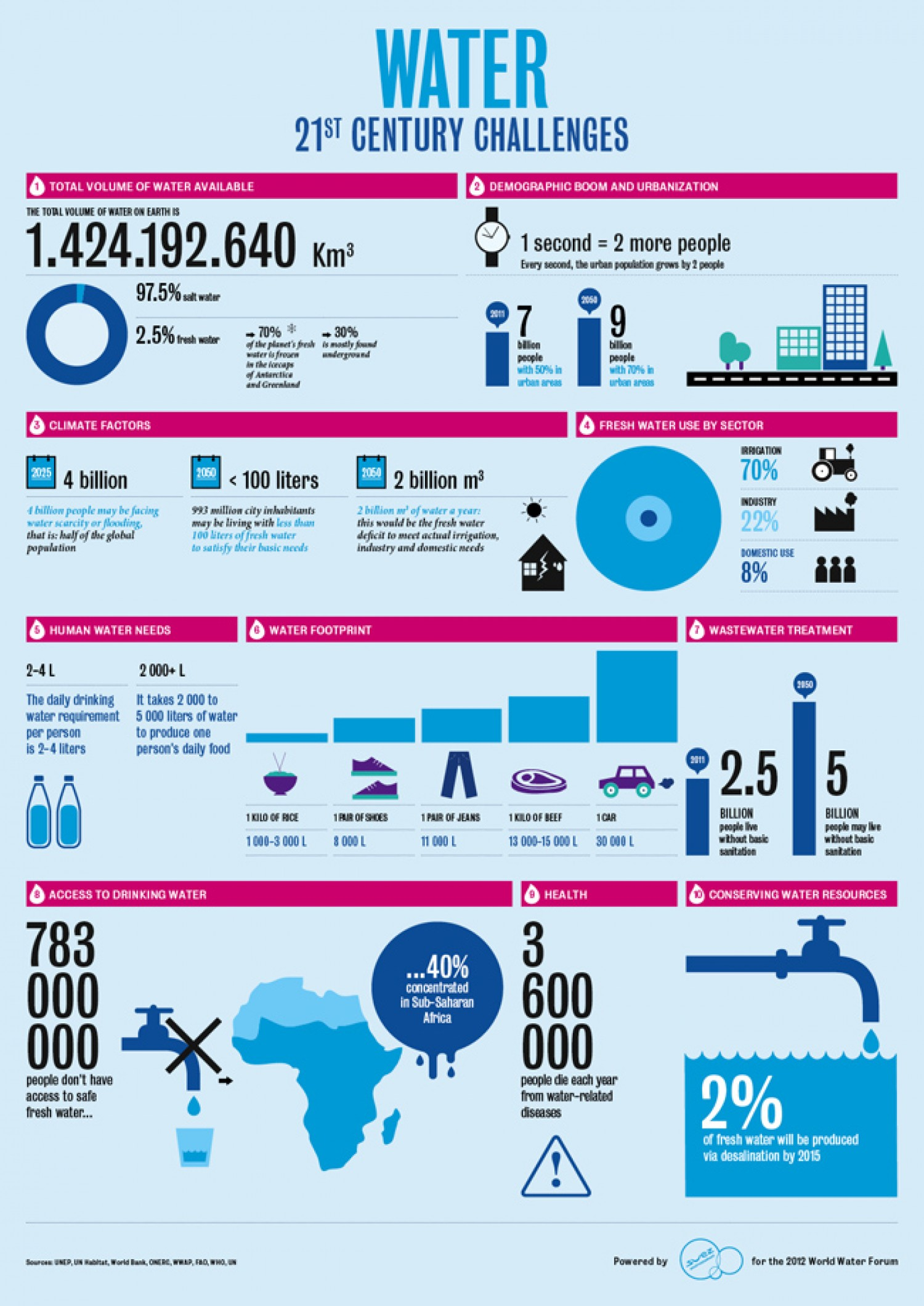 Water Issues Infographic