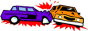 Clipart of two cars crashing