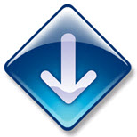 Arrow pointing down (clipart)