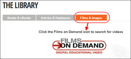 Films on Demand icon from library website