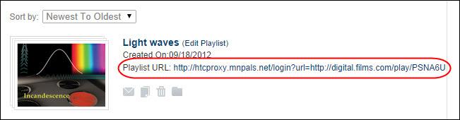 Playlist URLs