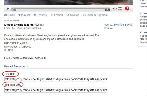 Title and Segment URLs