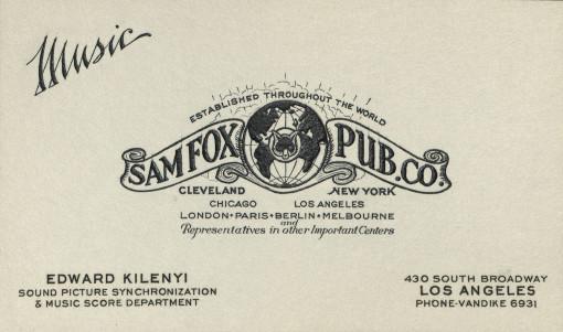 Edward Kilenyi, Sr. business card