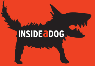 inside a dog logo