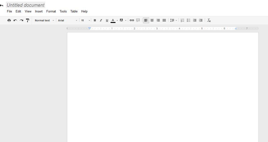 Google Drive new document