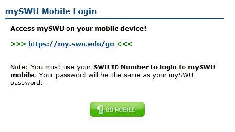 mySWU Mobile