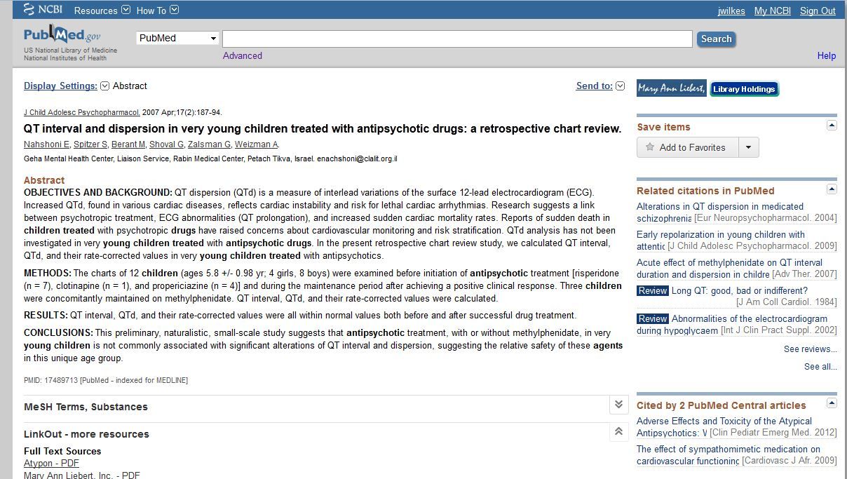PubMed Results with library holdings