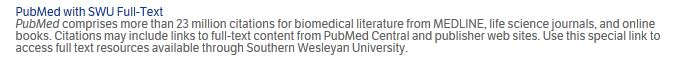 PubMed with SWU full text