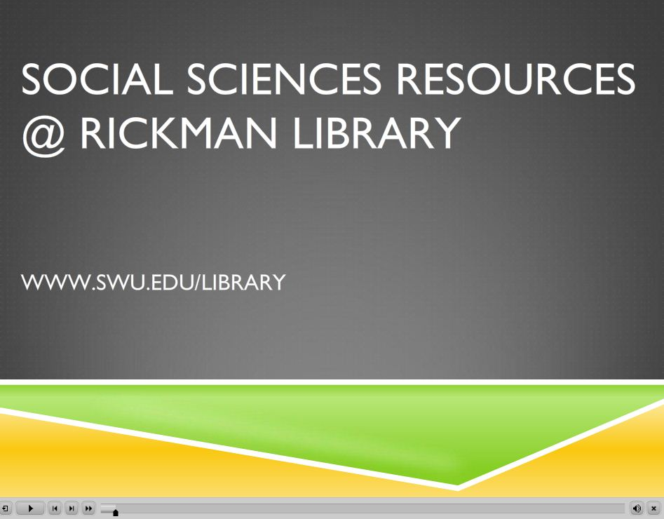 Social Sciences Resources