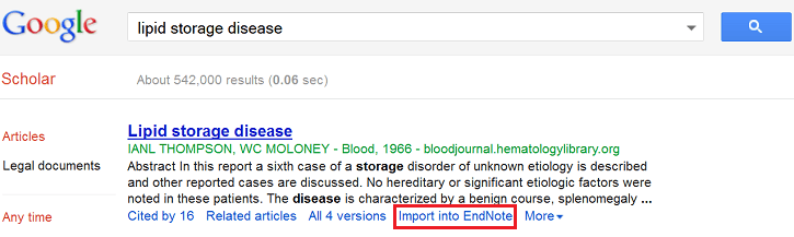 Import into EndNote