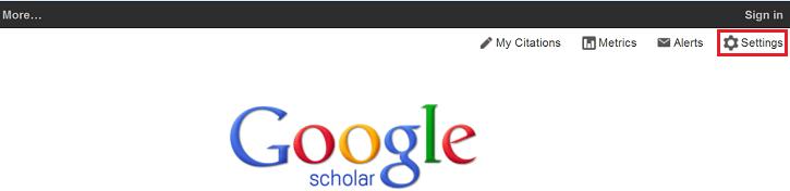 Google Scholar Settings