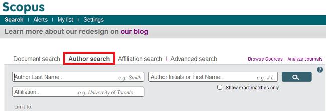 Scopus Author Search