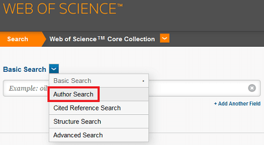 Web of Science Author Search