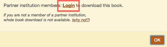 "Screenshot of ""Download Whole Book"" link, with the word ""Login"" highlighted in red."