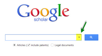 google scholar search bar