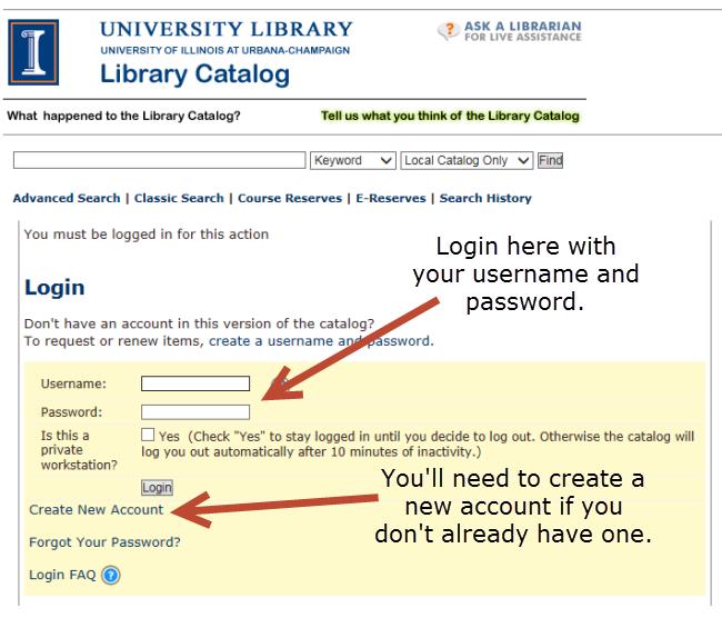Highlighting login page