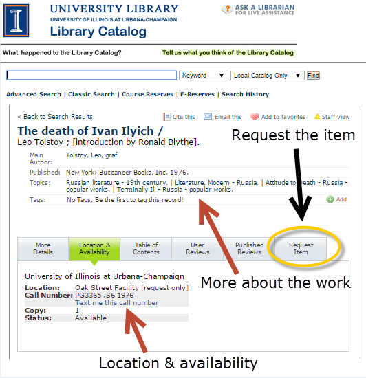 "Highlighting ""Request Item"" link"