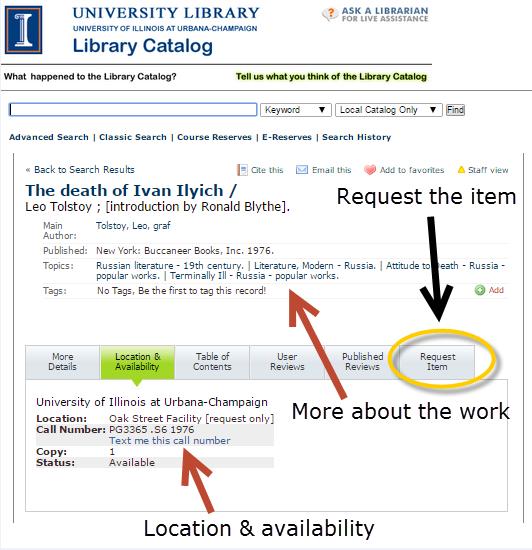 "Highlighting ""Request Item"" link"