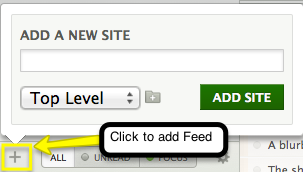 Add site to feed