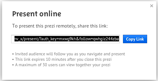 Create a Prezi link