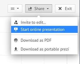 Start online presentation
