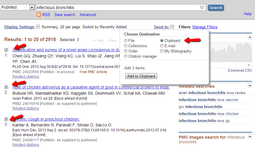 Add PubMed articles to your clipboard