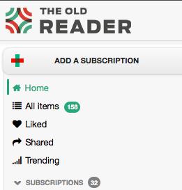 Navigating the Old Reader