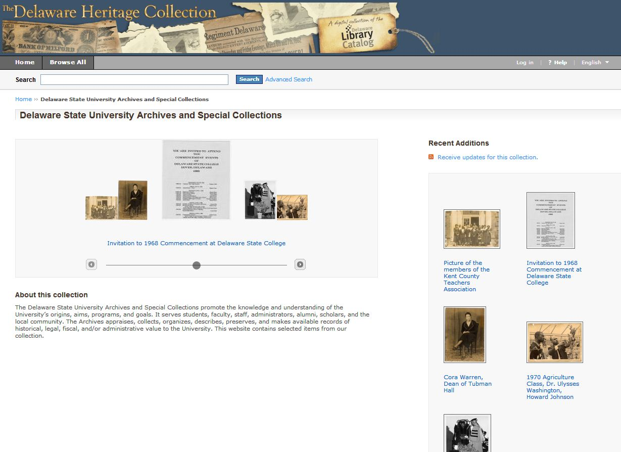 Delaware Heritage Collection screen shot