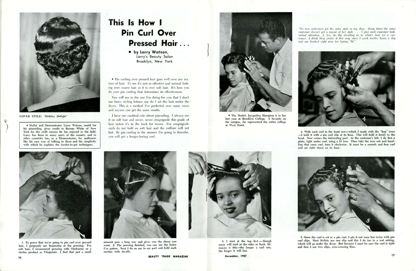 """This is how I pin curl over pressed hair"" in Beuaty Trade Magazine"