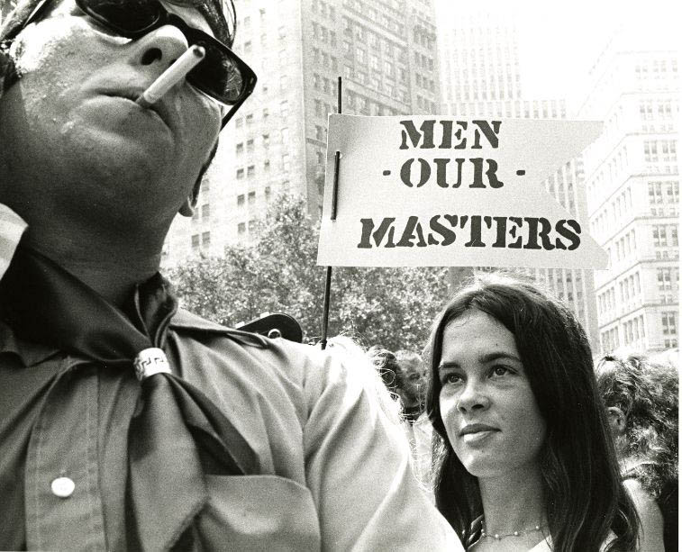 Anti-women's rights demonstration, 1970. Freda Leinwand Photographs.