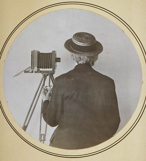 "E. Jane Gay as ""The Photographer."" Jane Gay Dodge Papers."