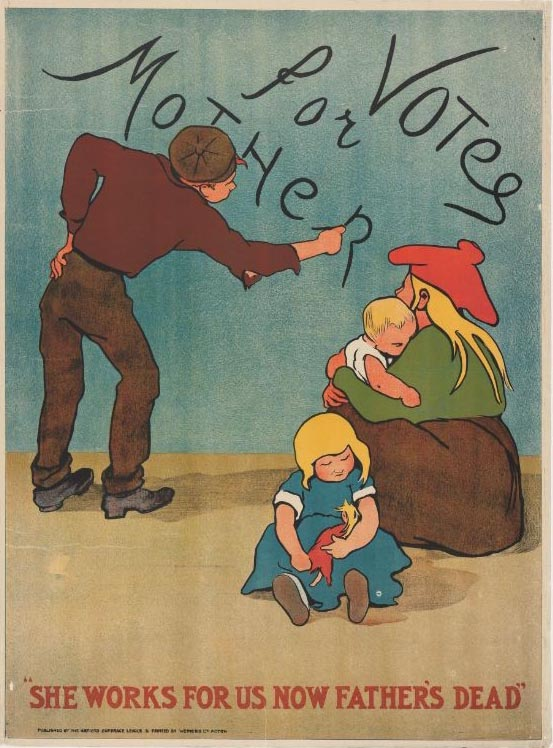 """Votes for Mother"" suffrage poster from the Alice Park Posters"