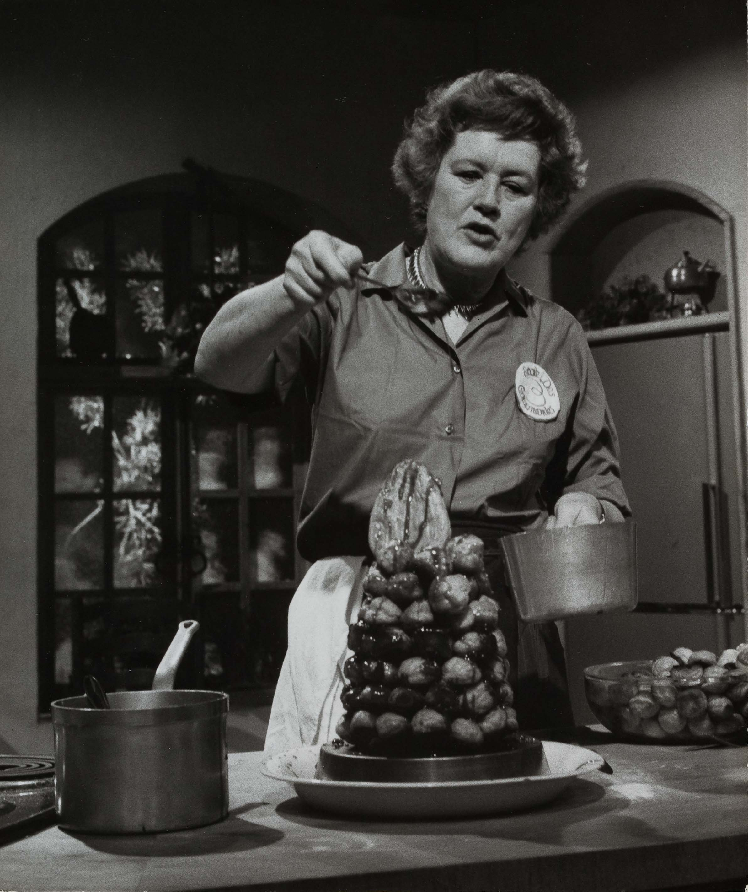 The French Chef episode #66, New Year's - Croquembouche. Photo by Paul Child, 1965.