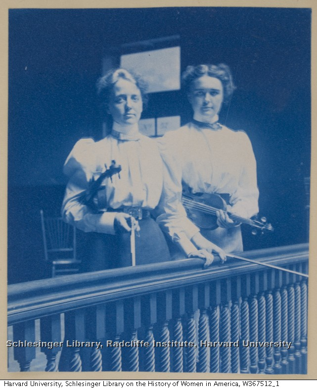 Lillian Shattuck (left) and most likely Jennie Daniell, her teaching partner, ca. 1898.