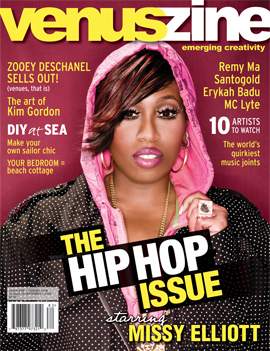 VenusZine cover with Missy Elliott on the cover.