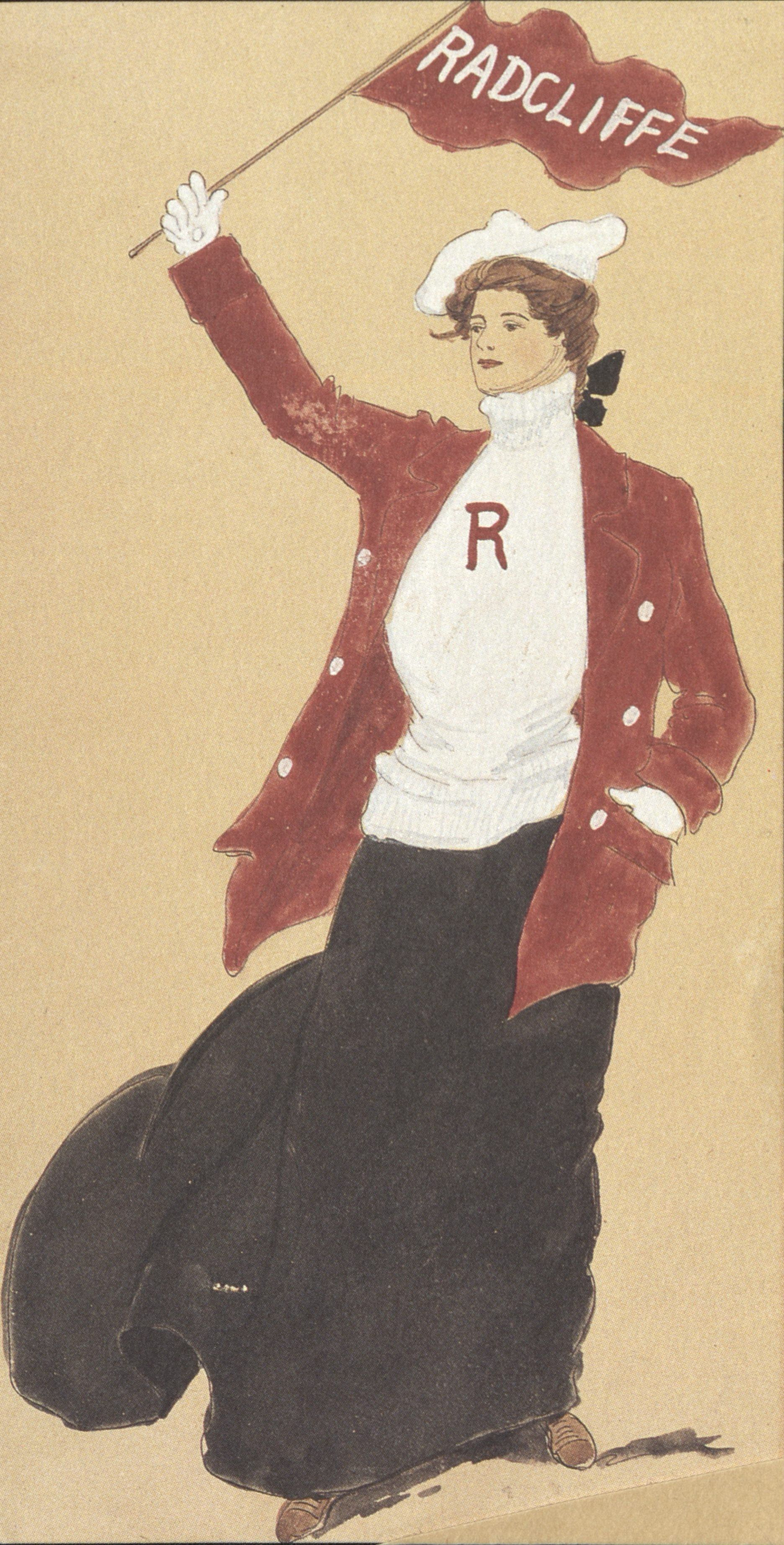 Sport costumes, 1904. Drawings: Helen Cartwright McCleary '04. Costume worn 'till 1914.
