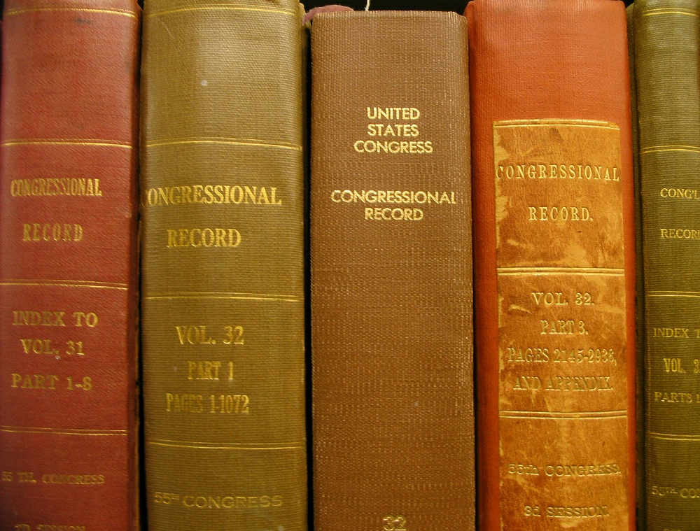 Congressional Record Volumes in the UW Libraries